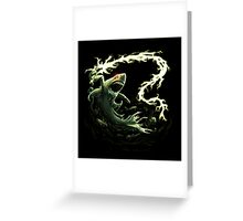 """""""Sharky Prime"""" summoned by Mordecai Greeting Card"""
