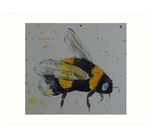 Bumble bee in flight Art Print