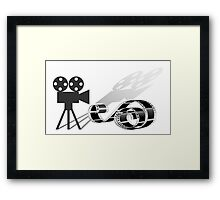 Film strip and film camera Framed Print