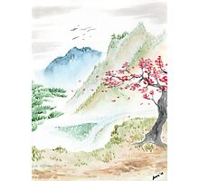 Watercolor Landscape  Photographic Print