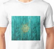 Teal, Wood, and Gold Unisex T-Shirt