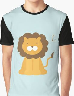 Cartoon lion Graphic T-Shirt