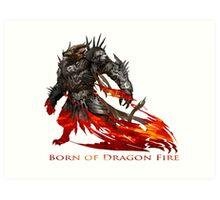 Guild Wars 2 - Born of Dragon Fire Art Print
