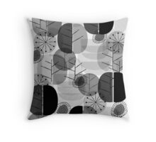 Simply Natural Grey  Throw Pillow