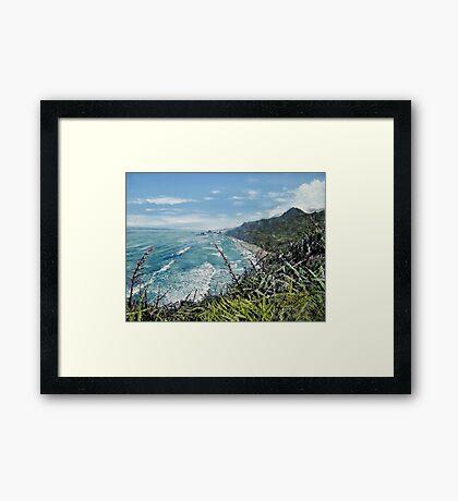 New Zealand Coastline Framed Print