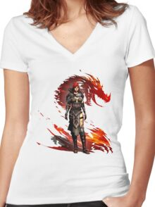 Guild Wars 2 - Nord Woman Women's Fitted V-Neck T-Shirt