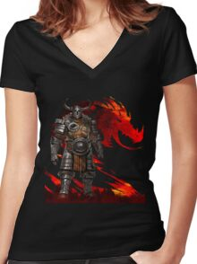 Guild Wars 2 - Nord Man Women's Fitted V-Neck T-Shirt