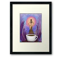 The Goddess Caffeina  Framed Print