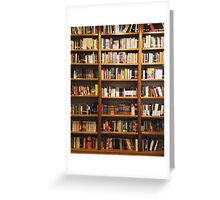 Classic Bookshelf Greeting Card