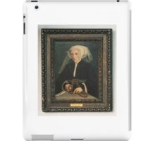 Follower of Barthel Bruyn, the Younger PORTRAIT OF A LADY HOLDING A ROSARY iPad Case/Skin