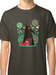 Red and wolf in the woods Classic T-Shirt