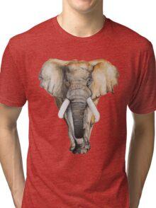 Watercolor hand drawn Elephant Tri-blend T-Shirt