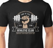Athletic logo hahd with dumbell Unisex T-Shirt