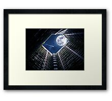 Moon amongst the Towers Framed Print