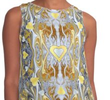Heart of Gold with a Silver Lining. Contrast Tank