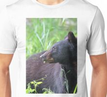 Black Bear Munching on Plants Unisex T-Shirt