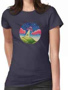 Cow Abduction Womens Fitted T-Shirt