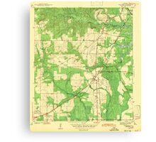 USGS TOPO Map Alabama AL Theodore 305446 1943 Canvas Print