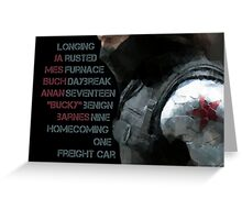 Activate Winter Soldier. Greeting Card