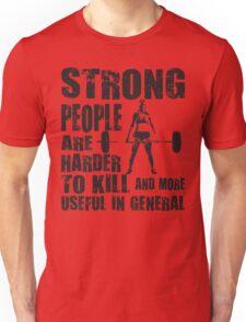 Strong People (Girl Deadlift) Unisex T-Shirt