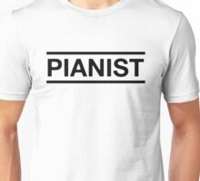 Pianist (Black) Unisex T-Shirt