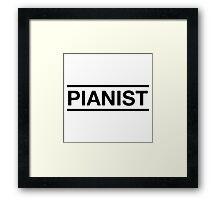 Pianist (Black) Framed Print