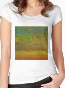 Abstract Landscape Series - Golden Dawn Women's Fitted Scoop T-Shirt