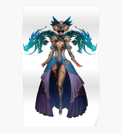 Guild Wars 2 - Human Elementalist Poster