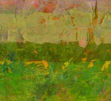 Abstract Landscape Series - Summer Fields Sticker