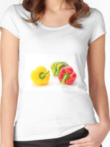 Mixed Peppers 1 Women's Fitted Scoop T-Shirt