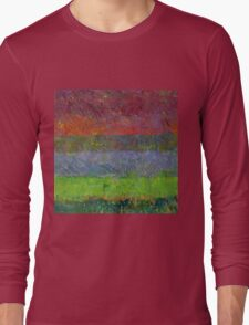 Abstract Landscape Series - Blue Waters Long Sleeve T-Shirt