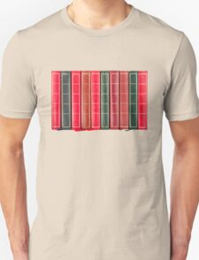 Row of Old Books Showing Spines Unisex T-Shirt