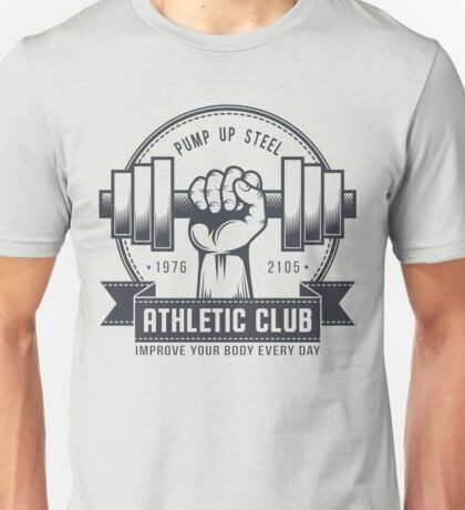 Retro gym logo on a light background Unisex T-Shirt