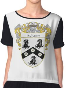 Jackson Coat of Arms/Family Crest Chiffon Top
