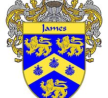 James Coat of Arms/Family Crest by William Martin