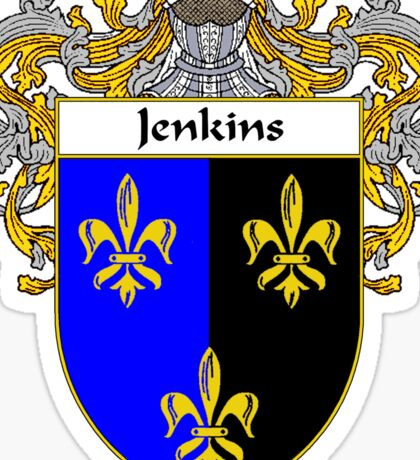 Jenkins Coat of Arms/Family Crest Sticker
