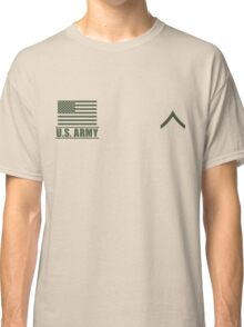 Private PV2 Infantry US Army Rank Desert by Mision Militar ™ Classic T-Shirt