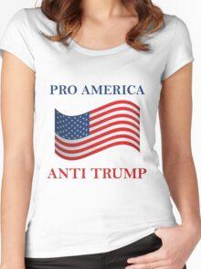 Pro America Anti Trump Women's Fitted Scoop T-Shirt