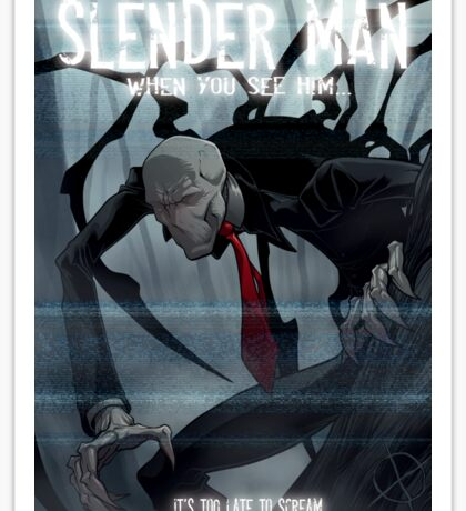 Slender Man Sticker