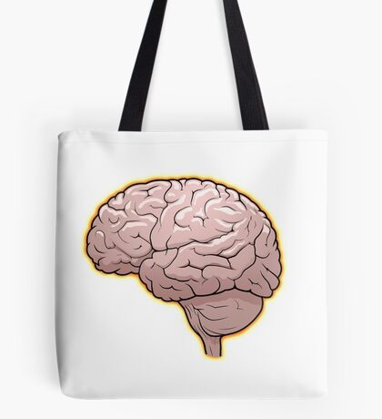 Brain with Orange Glow Tote Bag