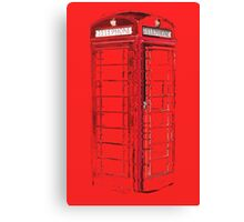 Abstract phone box Canvas Print