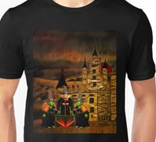 The 3 Witches and Glamis Castle in William Shakespeare's 'Macbeth' Unisex T-Shirt