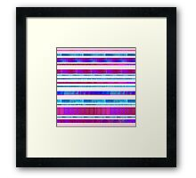 Chillout Stripy (pink) Framed Print