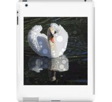 circled swan iPad Case/Skin
