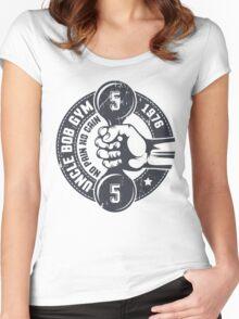 Gym vintage emblem Women's Fitted Scoop T-Shirt