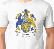 Jordan Coat of Arms / Jordan Family Crest Unisex T-Shirt