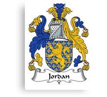 Jordan Coat of Arms / Jordan Family Crest Canvas Print