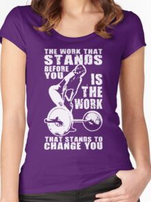 The Work That Stands Before You (Strong Girl) Women's Fitted Scoop T-Shirt