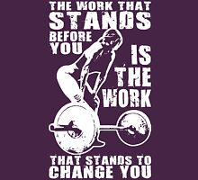 The Work That Stands Before You (Strong Girl) Womens Fitted T-Shirt