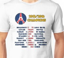 Paris Saint-Germain 2015/2016 French Champions Unisex T-Shirt